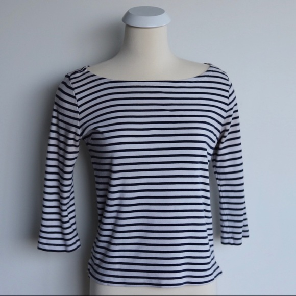 Stripped Boatneck
